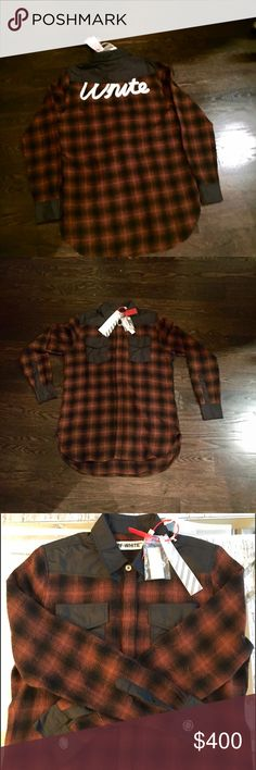 Off-White Flannel (100% Authentic) Great flannel with tags and bag. This is a size S but does NOT fit TTS. Its part of the new collection and is OVERSIZED, more is a Medium or Large. Off-White Shirts Casual Button Down Shirts