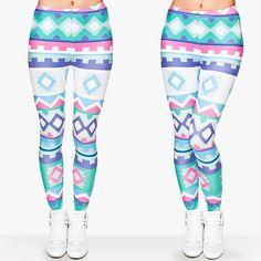 Zohra Brand New Fashion Aztec Printing legins Punk Women's Legging Stretchy Trousers Casual Slim fit Pants Leggings - Hautify Funky Leggings, Aztec Leggings, Leggings Are Not Pants, Printed Leggings, Pattern Leggings, Workout Leggings, Workout Pants, Workout Gear, Punk Women