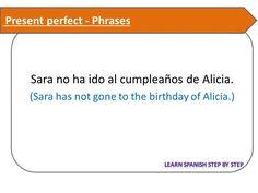 Spanish lesson 112 - Phrases - Present Perfect - Pretérito perfecto comp...