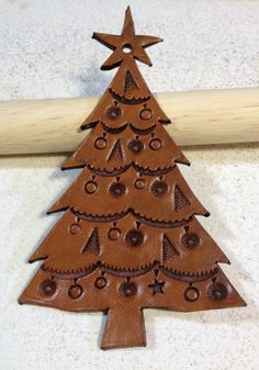 Leather Christmas Ornament by HighCaliberDesigns on Etsy