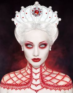 Image result for queen of hearts makeup ideas