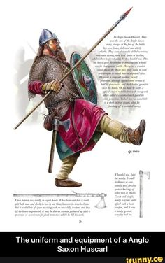 Anglo saxon huscarl - Ministry of Historical Silly Walks. Viking Warrior, Viking Age, Anglo Saxão, Anglo Saxon History, European History, Ancient History, American History, Germanic Tribes, Viking Culture