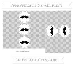 Free Silver Checker Pattern Mustache Napkin Rings