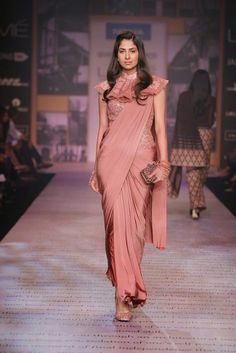 Rose saree - Shantanu & Nikhil Show at Lakme Fashion Week Summer Resort