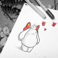 Baymax loves butterflies :)
