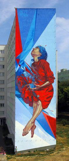 """Ici : """"The Healer"""" Kosice, Slovakia. ETAM Cru, un Street art en provenance des pays de l'Est. Issu du mouvement Graffiti et Street art, les artistes polonais SAINER et BEZT  originaires de Łódź et Turek en Pologne ont fondé le Crew : ETAM Cru. Diplômés en 2010 de l'Académie des Beaux-Arts de Łódź, ils travaillent comme artistes free-lance à Varsovie (Pologne)"""