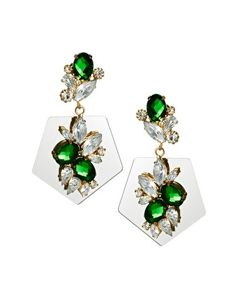 Shop ASOS Jewel Mirror Drop Earrings at ASOS. Jewelry Model, Boho Jewelry, Jewelry Box, Jewellery, Fall Accessories, Jewelry Accessories, Statement Earrings, Women's Earrings, Fancy Earrings