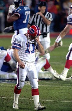 With eight seconds remaining in Super Bowl XXV and his Bills trailing the Giants by only one point, Scott Norwood took the field to attempt a 47-yard field goal that would have made his team champions. He missed wide-right and his name became synonymous with choking in the big moment. (As a long-time Bills fan, this moment REALLY hurt Still does.)