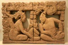Mayan stone panel, Museo Maya de Cancun or Cancun Mayan Mayan Museum