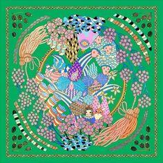The Scarf Project — Yoko Furusho Illustration Scarf Design, Illustration Artists, Yoko, Design Show, Angels, Patterns, Gallery, Drawings, Artwork