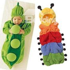 Pea banana caterpillar style romper bodysuit  sleeping bag baby suit for baby  (10533052)