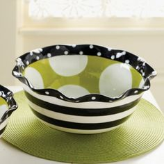 Ruffles Serving Bowl by Mud Pie