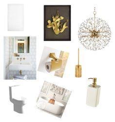 """Bathroom"" by sharlin-hernandez on Polyvore featuring interior, interiors, interior design, home, home decor, interior decorating, House & Home, Villari, Hudson Valley Lighting and Selamat Designs"