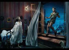 Annie Leibovitz's Latest Disney Ad Campaign (PHOTOS) #giselebundchen #mikhailbaryshnikov #peterpan #wendydarling