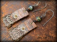 Rosa & Josie's: Jewelry Project 6 ~ Mixed Metal Earrings (Recycled)