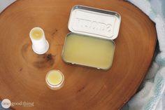 DIY Honey Lip Balm Recipe courtesy of Honey.com Ingredients: 1/2 cup sweet almond oil 1/4 cup beeswax 1 Tbsp. honey