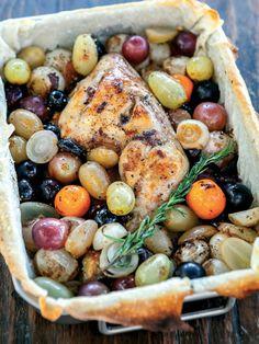 Üzüm ve arpacık soğanlı tavuk but Tarifi - Türk Mutfağı Yemekleri - Yemek Tarifleri