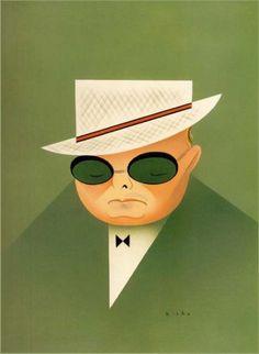 Caricature by Robert Risko  Truman Capote