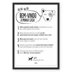 DIY: PÔSTER GRÁTIS DICAS DA CASA DO CÃO #poster #quadro #free #freebie #gratis #cachorro #cão #dog #regras #decoracao
