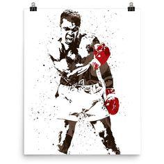 Custom Muhammad Ali Liston Boxing Poster at PixArtsy. Unique and rare poster of Muhammad Ali vs Sonny Liston fight. Famous knock down scene. Canvas Wall Art, Wall Art Prints, Poster Prints, Fitness Workouts, Muhammad Ali Boxing, Boxing Posters, Creation Art, Sports Figures, Sports Art