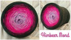 Himbeer Mond: (Rein) Material: Hochbauschacryl 3 Farben: lavendel neonpink graphit