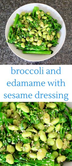 This Broccoli and Edamame with Sesame Dressing is a quick, easy and delicious side dish that will compliment almost any meal.
