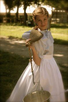 Girls Old Fashion Prairie..Pioneer dress by AshleysAttic on Etsy