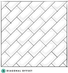 What's your favorite subway tile pattern? 8- diagonal offset
