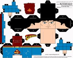 Cubeecraft Classic Superman by RatedrCarlos on DeviantArt Superman Red Son, Diy Paper, Paper Crafts, Paper Cube, Volunteer Appreciation, Deviantart, Crafts For Girls, Paper Models, Shopkins