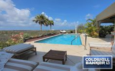 This enormous #patio and large #pool offer breathtaking panoramic island and ocean #views!  Noord, Aruba $1,100,000