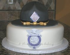 NC Highway Patrol cake!  Love it! THIS is what David's groom cake was supposed to look like!!!! Lol... close... ;)