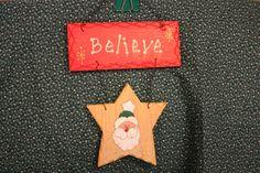 Santa Sign Santa Believe Sign Believe Sign by BrownBeaverBeadery