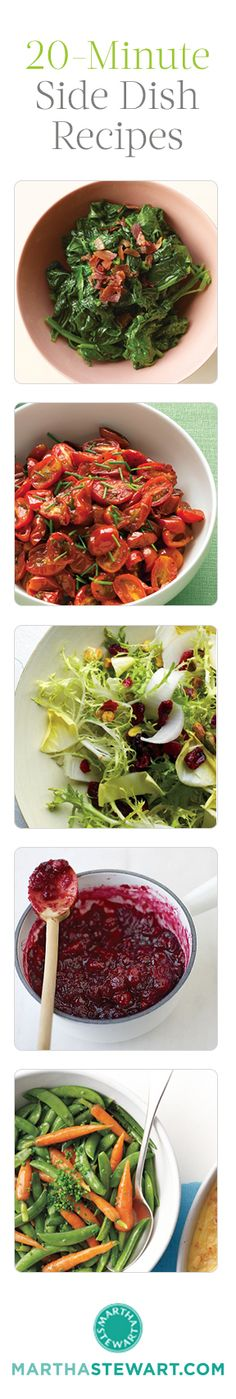 20-Minute Side Dish Recipes