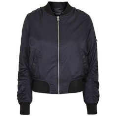 Women's Topshop 'Ultimate MA1' Bomber Jacket ($99) ❤ liked on Polyvore featuring outerwear, jackets, coats & jackets, tops, topshop, insulated jacket, bomber style jacket, green military jacket and military green bomber jacket