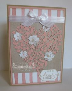HAPPY HEART CARDS: STAMPIN' UP! BLOOMIN' HEART FRIENDSHIP CARD