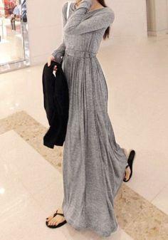 Grey Maxi Dress - finally a beautiful but not overly formal maxi that's not a sundress