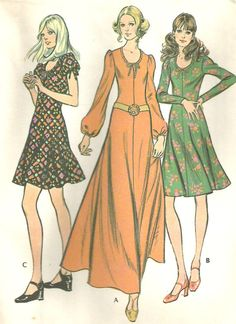 Vintage 70s McCalls 3295 UNCUT Misses Peasant Style by RomasMaison