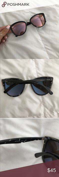 """AUTHENTIC Quay """"My Girl"""" pink sunglasses In good used condition! Super rare pinkish mirrored color from Quay Australia. These are the super popular my girl style which is sold out online! Quay Australia Accessories Sunglasses"""