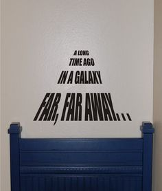 Vinyl Wall Decal Star Wars A Long Time Ago on Etsy, $24.00