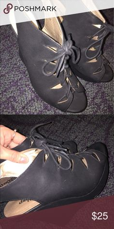 Charlotte Russe wedges size 8 Wore these once in great condition size 8 Charlotte Russe Shoes Wedges