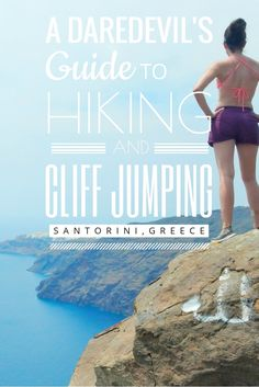 Follow us on a scenic hike around the mouth of a volcano, to the perfect spot for cliff jumping in Santorini, Greece!