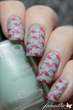 flamingo nailart kiko 345 283 essie blanc moyou london alice05 sailor04