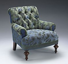 Middlebury Chair: Larkspur: Mary Lynn O'Shea: Upholstered Chair - Artful Home Long Chair, Upholstered Chairs, Tufted Chair, Chair Upholstery, New Furniture, Furniture Outlet, Furniture Ideas, Cheap Home Decor, Home Furnishings