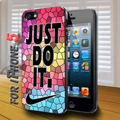 Colorfull Geomatric Nike Just Do It - design case for iphone 5 | shayutiaccessories - Accessories on ArtFire