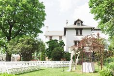 Outside ceremony space, with gazebo at the Cornwall Inn garden
