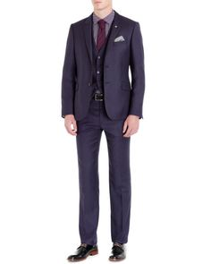 Ted Baker Endurance collection - Purple | Suits | Ted Baker UK