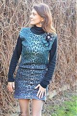 Vestové šaty obojstranné plstené 2 in 1