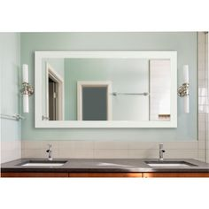 American Made Rayne Extra Large 39 x 78-inch Delta White Vanity Wall Mirror (39 x 78)