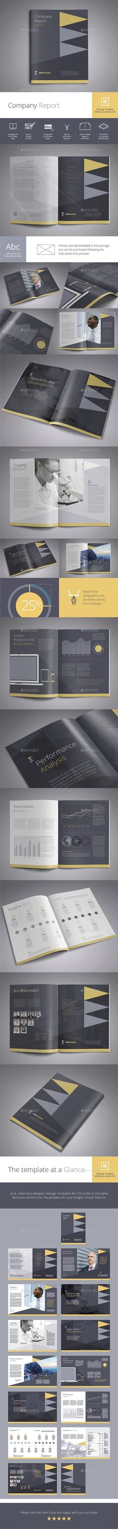 Astero Powerpoint Template - company report template