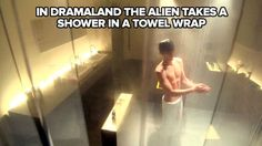 Hey! I prefer shower scene with towel on no shower scene at all.. any time